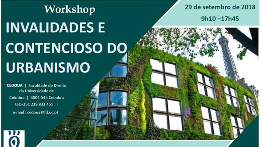 workshop invalidade contencioso urbanismo