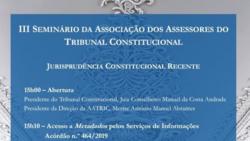 iii seminario assessores tribunal constitucional