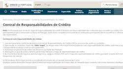 central responsabilidade credito banco portugal
